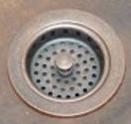 3 1/2 in Copper Sink Kitchen/Bar/Prep Drain with Strainer Basket