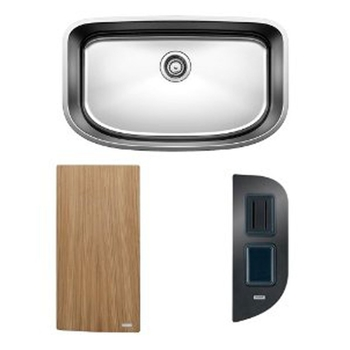 BLANCO ONE™ Super Single Bowl with Cutting Board & Workstation
