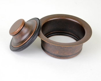 3 1/2 in Copper Sink Kitchen/Bar/Prep Garbage Disposal Flange with Stopper