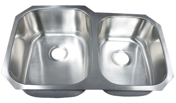 Leonet LE-205B Brenner 60/40 Double Bowl Undermount Stainless Steel Kitchen Sink