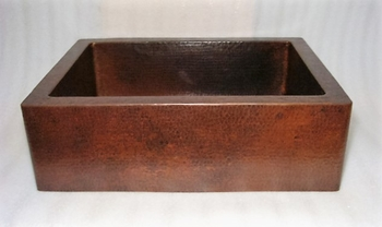 33 in. Copper Farmhouse Kitchen Sink 10
