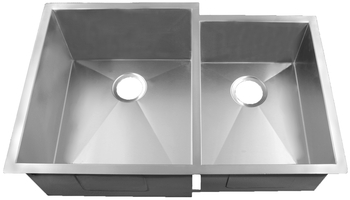 HomePlace HR-HBO3320B Livingston Undermount Stainless Steel Kitchen Sink  Radial