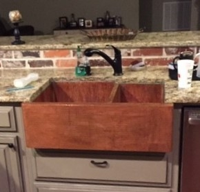 33 Copper Kitchen Farmhouse Sink Apron Front 60 40 Double Well