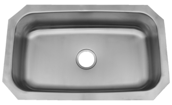 30 in Patriot PAUS17 Texan Undermount Stainless Steel Single Bowl Kitchen Sink