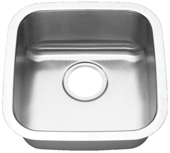 16 in Patriot PAUS18 Californian Undermount Stainless Steel Single Bowl Bar Sink