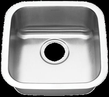 16 in Patriot PAUS18 Californian Undermount Stainless Steel Single Bowl Bar Sink