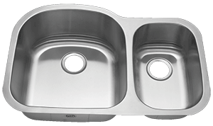 Royalty R04 Duchess 70/30  Double Bowl Undermount Stainless Steel Kitchen Sink