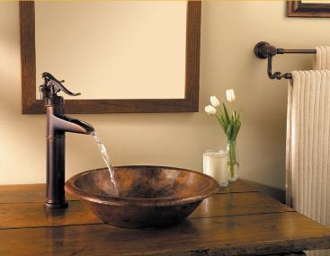 Bathroom Faucets Rustic pfister ashfield 1-hole - vessel faucet filler rustic bronze