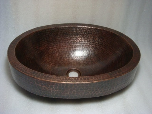 Simplycopper 18 Quot X 15 Quot Oval Skirted Copper Bath Sink Drop