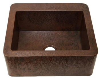 25 in. Copper Farmhouse Kitchen Sink 9