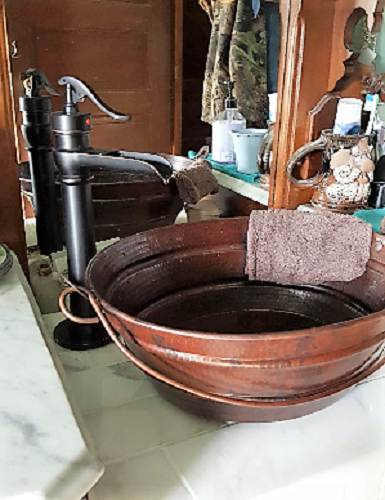 16 Quot Oval Copper Bucket Vessel Sink With Lt Drain And 13