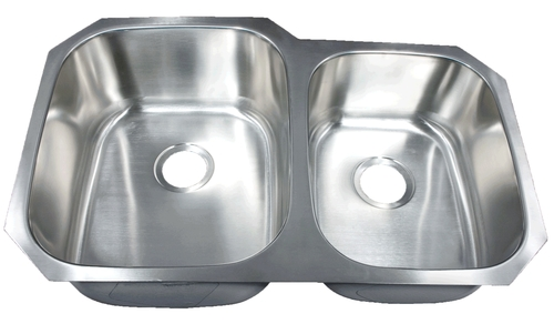 Leonet LE-205B Brenner 60/40 Double Bowl Undermount Stainless Steel Kitchen Sink | Stainless Steel Kitchen Sink