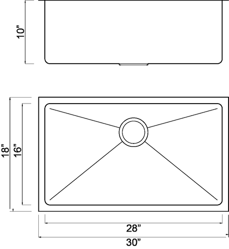 Single Bowl Radial Edge Kitchen Sink