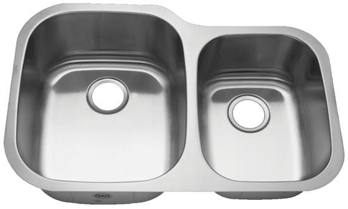 Royalty R02 Duke 60/40 Double Bowl Undermount Stainless Steel Kitchen Sink