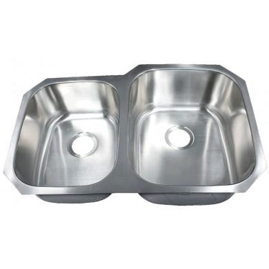 Futura FA108R Invicta Reverse 40/60 Double Bowl Undermount Stainless Steel Kitch | Leonet & Futura Stainless Steel Kitchen Sink