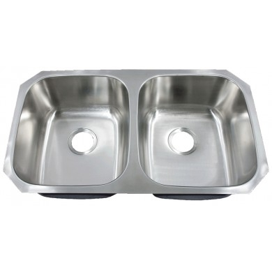 Futura FA-208 Electra 50/50 Double Bowl Undermount Stainless Steel Kitchen  Sink