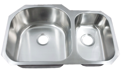 Futura FA708 Le Sabre 70/30 Double Bowl Undermount Stainless Steel Kitchen Sink | Leonet & Futura Stainless Steel Kitchen Sink