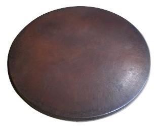 Dark Brown Round Copper Table Top 24