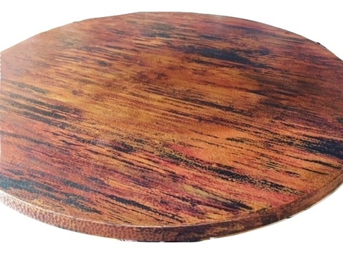 Natural Fire Round Copper Table Top 24