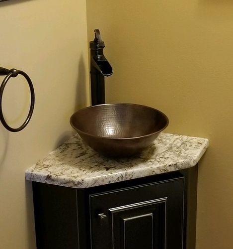 Round Copper Bathroom Sink