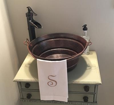 Copper Bucket Vessel Bathroom Sink