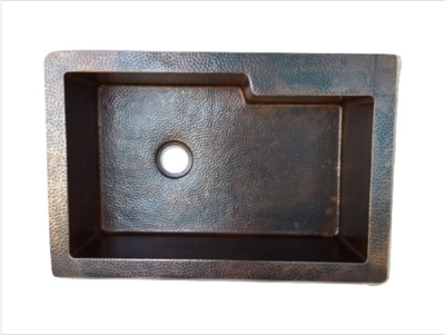33 Rustic Copper Kitchen Sink With 4 Lip For Faucet One Well Kitchen Sink 9 10 Depth Available