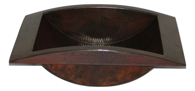 Large Rectangular Copper Trough Sink 20