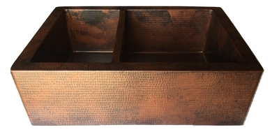 40/60 Copper Farmhouse Sink Available in:  33