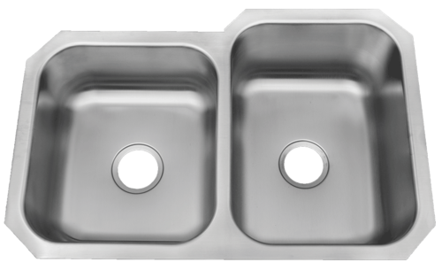 Patriot PAUD16R W.Virginian Undermount Stainless Steel 40/60 Bowl Kitchen Sink | Patriot