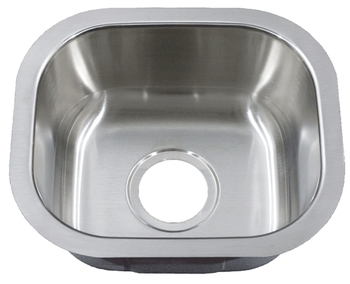 Peanut Under mount Stainless Steel Bar Sink 14 3/4