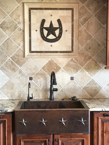SimplyCopper 33 in. Copper Farmhouse Kitchen Sink 9