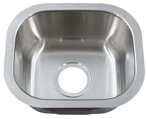 Peanut Under mount Stainless Steel Bar Sink 14 3/4