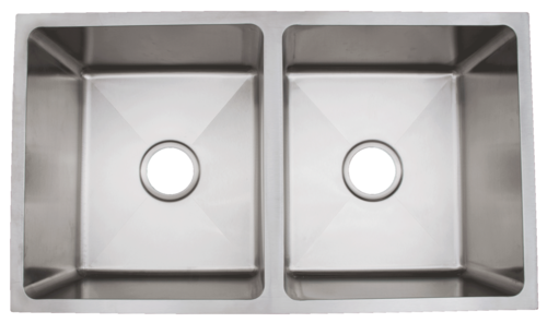 Urban Place Radial  Corner R ZS-100 Double Bowl Stainless Steel Kitchen Sink | Urban Place & Oasis Kitchen Sink