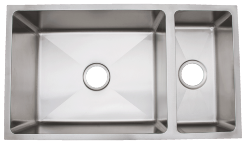 Urban Place Radial Edge R- ZS-200 Double Bowl Stainless Steel Kitchen Sink | Urban Place & Oasis Kitchen Sink