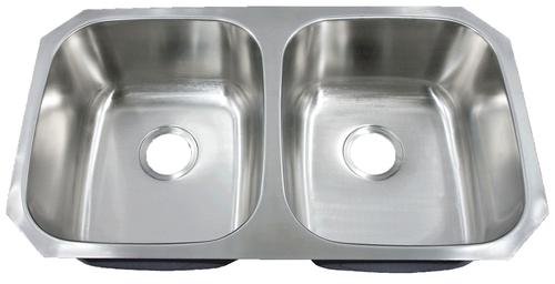Leonet LE-191A Victoria 50/50 Double Bowl Undermount Stainless Steel Kitchen Sin | Stainless Steel Kitchen Sink
