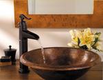 Pfister Ashfield 1-Hole - Vessel Filler  Faucet Tuscan Bronze | Bathroom Faucet