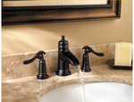 Ashfield 3-Hole - Widespread Tuscan  Bronze | Wide Spread Faucet