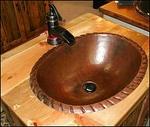 Copper Drop-In Bath Sink