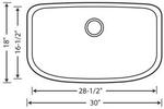 BLANCO ONE™ Super Single Bowl with Cutting Board & Sink Caddy | FireClay Sinks