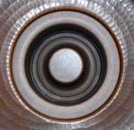 3 1/2 in Copper Sink Kitchen/Bar/Prep Garbage Disposal Flange with Stopper | 3-1/2