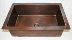 33 in. Copper Kitchen Sink Single Basin 9
