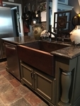 33 in. Copper Farmhouse Kitchen Sink 9
