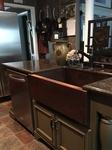 SimplyCopper 33 in. Copper Farmhouse Kitchen Sink 10