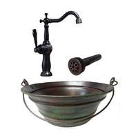 Image Copper Sink, Drain, & Faucet