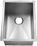Image Homeplace HR-HBB1520 Carthage 15-Gauge 15 Inch Stainless Steel Kitchen Sink