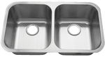 Royalty R01 Count 50/50 Double Bowl Undermount Stainless Steel Kitchen Sink