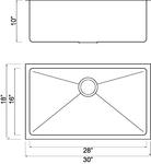 HomePlace HR-HBS3018 Crockett Undermount Stainless Steel Kitchen Sink | HomePlace Kitchen Sink