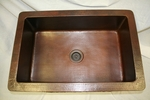 30 in. Copper Kitchen Single Basin Sink 9
