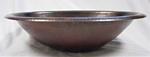 Master Bath 19 x 14 Oval Copper Rolled Edge Bathroom Vessel Sink