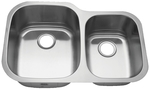 Royalty R02 Duke 60/40 Double Bowl Undermount Stainless Steel Kitchen Sink